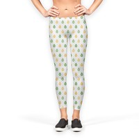 Yellow and green droplets pattern Leggings by Savousepate from €37.00   miPic