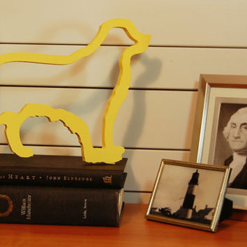 Golden retriever dog wall or shelf decoration by @PineconeHome