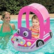 Pink Cozy Car Pool Float Seat w/ Canopy Baby Toddler 9-24 Months