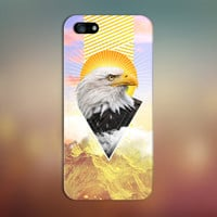 Geometric Golden Eagle x Mountain Sunrise Phone Case for iPhone 6 6 Plus iPhone 5 5s 5c 4 4s Samsung Galaxy s6 s5 s4 & s3 and Note 5 4 3 2