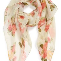 David & Young Floral Woven Scarf (Juniors) | Nordstrom