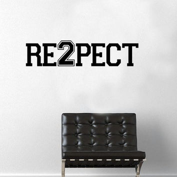 Derek Jeter RE2PECT Wall Decal / Car Decal - New York Yankees - Baseball - Perfect Gift Idea - New York City - MLB - High Quality Vinyl
