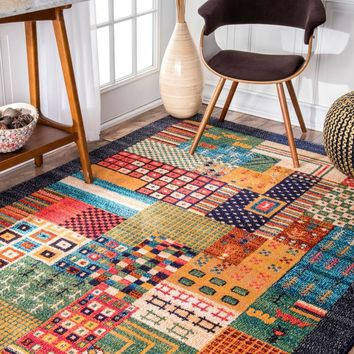 nuLOOM Weldon Tribal Patchwork Area Rug