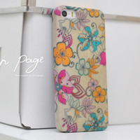 apple iphone case : abstract flowers from nappage