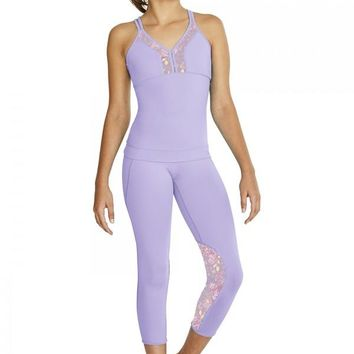 Mesh Panel 7/8 Length Legging by Bloch