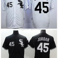 White Sox #45 Michael Jordan Black Baseball Jersey High Quality Stitched Baseball Shirts Cheap Sports Jerseys Athletic Baseball Wears