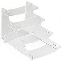 Tiered Clear Acrylic Step Risers with 4 Platforms