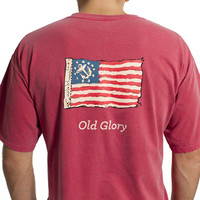 Beach Tee Crimson Old Glory