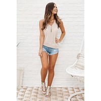 Perfect For You Knot Top (Taupe Multi)