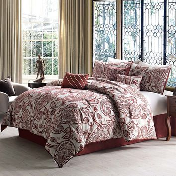 Victoria Classics Palermo 7-pc. Comforter Set (Red)