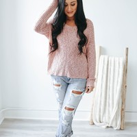 Make It Last Sweater - Dusty Blush
