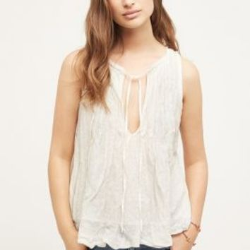 Meadow Rue Pleated Tie-Neck Tank