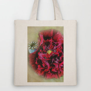 Red Poppy Flower Tote Bag by West Coast Photography Canvas and Prints