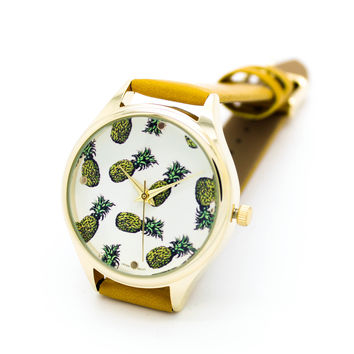 Pineapples strap watch (3 colors)