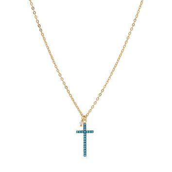 Shop Turquoise Cross Necklace on Wanelo 4c757cab6a