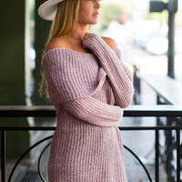 All Cozied Up Sweater - Rose