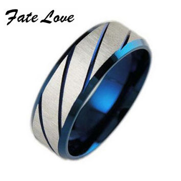 316L Stainless Steel Superman Finger Rings blue Men's titanium steel  blueornaments gj196
