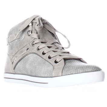 G Guess Opall12 High Top Fashion Sneakers - Gray Multi