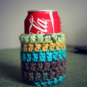 Crocheted Coozie - Beer Coozie - Coke Coozie