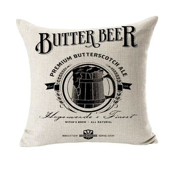Butter Beer Design Massager Pillow Decorative Vintage Pillows  Cover Home Decor Gift