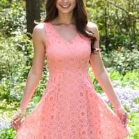 Smitten With You Dress-Coral