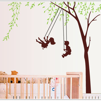 Childhood swing children room household adornment wall stickers in the removable wall stickers on the wall SM6