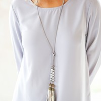 All The Ways Necklace in Grey | Monday Dress