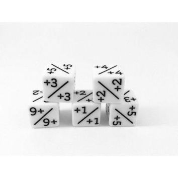 5x Dice Counters White +1/+1 for Magic: The Gathering and other games / CCG MTG