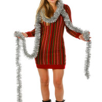 Holly Berry Ugly Christmas Sweater Dress