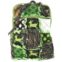 Patchwork Leaf Camo Purse Camouflage Deer and Polka Dots - You Choose - Tote Bag, Messenger, Sling or Wallet (Green Packpack)