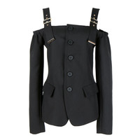 Suspenders Strapless Casual Long Jacket