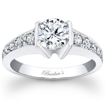 Barkev's Tension Channel Set Diamond Engagement Ring