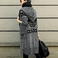 Louis Vuitton LV Adidas Hooded Sweater Knit Cardigan Jacket Coat