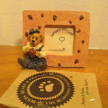 Boyd's Bear figurine number 82009 picture frame