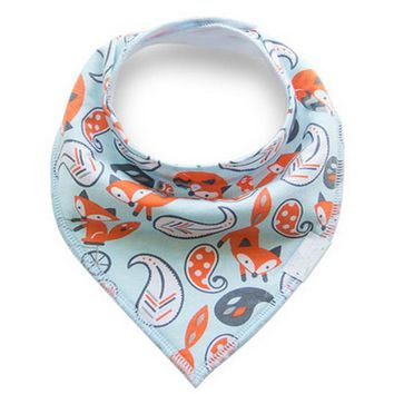 Cotton Baby Bandana Bibs for Boys Girls Scarf Newborn Baby Babador Bibs Infant Baby Feeding Bibs Double Layer Baby Saliva Towels