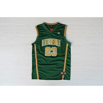 High School Jerseys St. Vincent-St. Mary High School STVM Fighting Irish #23 LeBron James Green