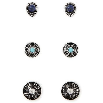 Mixed Faux Stone Earring Set