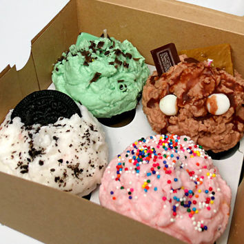 Bakery Box of Four Pack Cupcake Candles -  Choose your Flavors