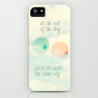 at the end of the day we're all under the same sky iPhone Case by Sylvia Cook Photography | Society6