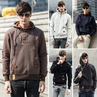 5 Colors Autumn Winter Male Sports Hoodies Sweatshirt  Casual Thick Cotton Hooded Coats Size M-3XL WW0039