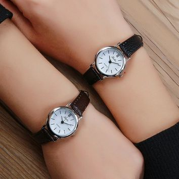 Small Dial Quartz Leather Women Watch New Fashion Hot Sale Watches Ladies Simple Style Silver Wristwatch Relogio Feminino