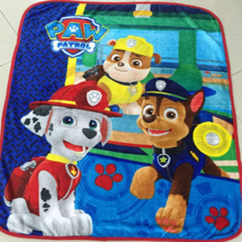 Home textiles paw patrol Children Cartoon pattern Coral fleece Paw Patrol blankets can be as bedclothes the throws size 100/130