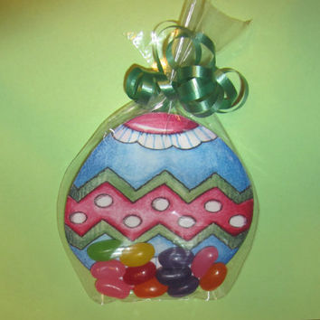 EASTER EGG CARD,candy,chocolate favor,bags,tags and ties included,
