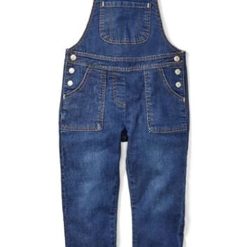 Mini Boden Denim Overalls (Toddler Girls, Little Girls & Big Girls) | Nordstrom
