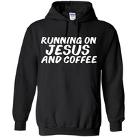 Runnnig on Jesus And Coffee Christian Jesus Lover T-shirt