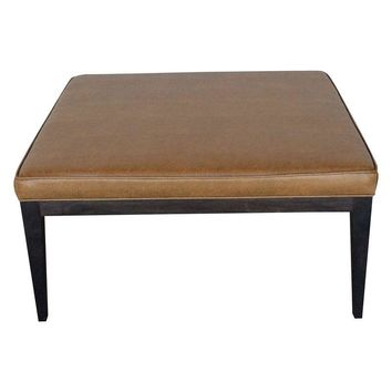Pre-owned Modern Faux Leather Square Coffee Table Ottoman