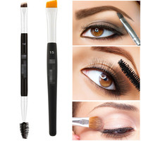 1 Fashion Double Sided Ended Eyebrow Makeup Wand Brow Shaping Angled Eyelash Brush Makeup Tools Accessories Makeup Brushes