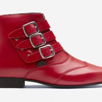 Underground | Blitz Boots Winklepickers Red Leather | Shoes,Creepers,England,Winklepickers,Boots