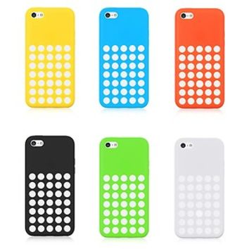 iPhone 5C Rubber Silicone Case Dotted Design