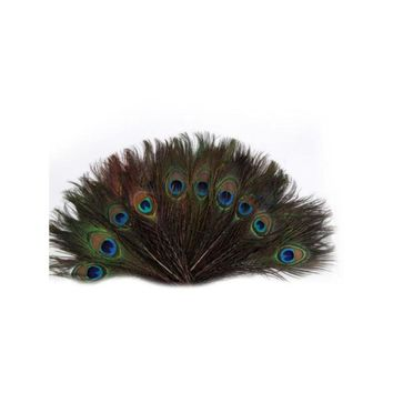 100pcs 25-30cm Beautiful Natural Peacock Tail Feathers Eyes Feathers Decorations for Craft / Art / Dress / Hats / Bridal Costume / Party